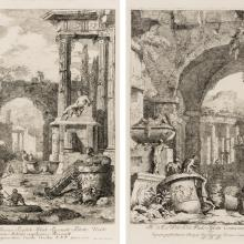 Varia Marci Ricci Pictoris Praestantissimi Experimenti; No. 9 and No. 10 from set of twenty plates  1730