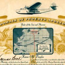 Pan American Airways souvenir certificate 1936
