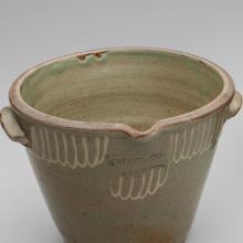 Cream riser and two-gallon jug  c. 1850
