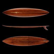 Gerry Lopez Pipeline Gun surfboard c. 2013