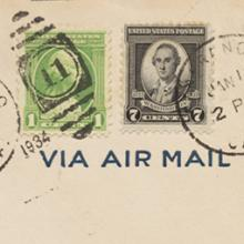 First U.S. Navy Squadron Formation Flight VP Squadron Ten, San Francisco–Hawaii airmail flight cover and letter