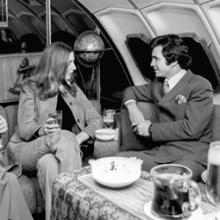 "Qantas Airways upper deck ""Captain Cook Lounge"" aboard Boeing 747s"