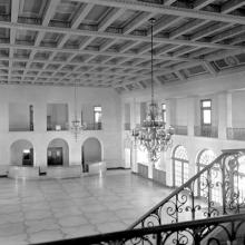 Administration and Terminal Building, passenger waiting room from upper level mezzanine, San Francisco Airport July 15, 1937