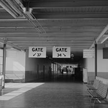 Concourse D, San Francisco International Airport terminal building  1959