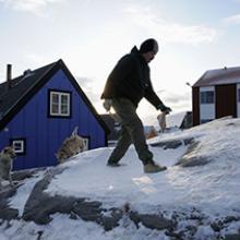 Ole Jorgen Hammeken with sled dogs  2009