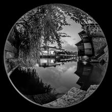 Night View, Wuzhen Water Tower, China  2013