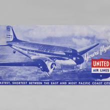 United Air Lines ticket jacket  1940s