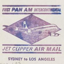 Pan American World Airways, first Jet Clipper Air Mail, Sydney-Los Angeles flight cover