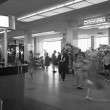 First-floor waiting room, San Francisco International Airport terminal building  1962
