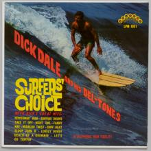 "Surfers' Choice  1962; ""Let's Go Trippin'/Del-Tone Rock""  1961; A Swingin' Affair lobby card  1963; Summer Surf Stomp, Dick Dale and his Del-Tones  1964"