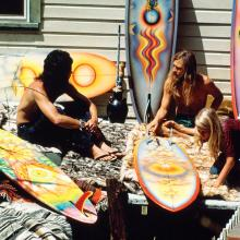 David Nuuhiwa and John Gale, Laguna Canyon, California  1971