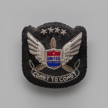 Pilot uniform insignia, hat badge  1942–1957
