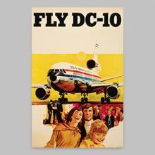 McDonnell Douglas DC-10 poster  1970s