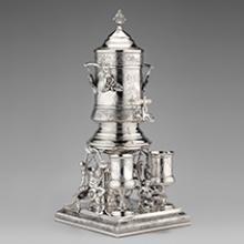 Ice water urn set  c. 1880–91
