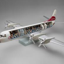 Western AirLines Lockheed L-188 Electra model aircraft late 1950s