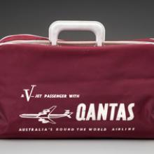 "Qantas Airways ""V-Jet"" bag 1960s"