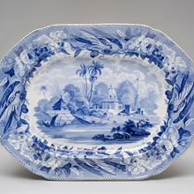 Platter, Part of the City of Moorshedabad pattern  c. 1810–30s