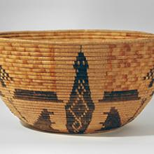 Bowl-shaped basket  before 1923