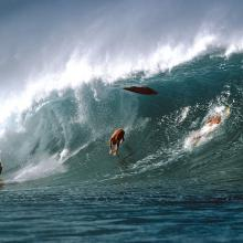 Wipeout, Pipeline, Oahu, Hawaii  1974