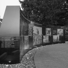 Korean War Memorial, facing south  2017