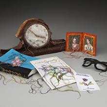 Lauren DiCioccio, Clock, Pocket Photos (Man & Woman), Plastic Flower, Tender in the NIght (Book), Glasses, Flowers for Bethehem, With our Symphathy (Greeting Card) 2011