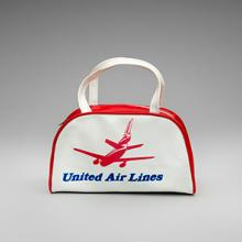 United Air Lines McDonnell Douglas DC-10 miniature flight bag  1970s