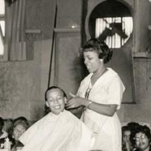 Madam C. J. Walker hairstyling and product demonstration