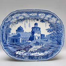 Platter, Monopteros pattern  c. 1810–30s