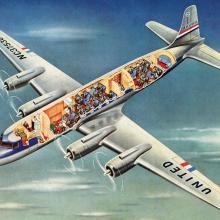 United Air Lines Douglas DC-6 Mainliner brochure, detail  c. 1947