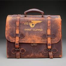 Pan American Airways China Clipper flight officer briefcase