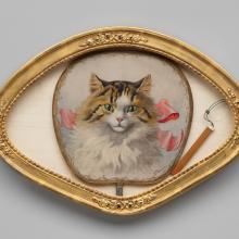Cat hand-screen [fan]  early 20th century
