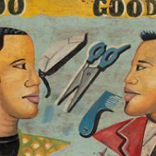 """Do Good!!"" barbershop sign  c. 1990s"