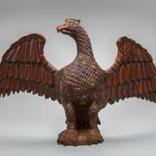 Carved wooden eagle  c. 1870s