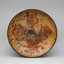 Sgraffito-decorated plate  1815