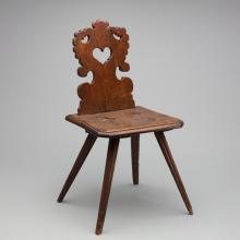 Brettstuhl (board-back stool)  c. 1800s