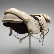 Shoulder pads worn by Jim Brown