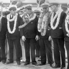 Crew of the first Sikorsky S-42 survey flight in Hawai'i