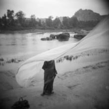 Drying Sari, from Memories of India  2003