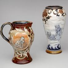 Cat pitcher & Cat vase