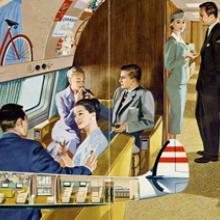 TWA (Trans World Airlines) Lockheed 1649 Starliner brochure  c. 1958