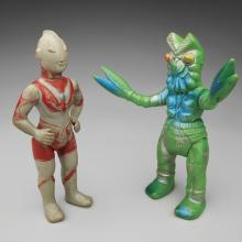 Ultraman and Alien Baltan figures  1966–67