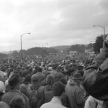 Bridge Walk during the fiftieth anniversary of the Golden Gate Bridge 1987