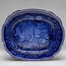 Platter depicting a Chinese scene  c. 1815–30s