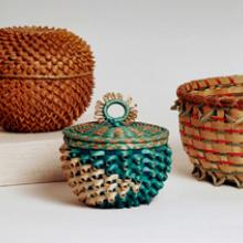"""Pineapple"" basket  20th century, Basket  1973, Basket  before 1978"
