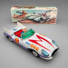 Friction-driven Mach 5 car with Speed Racer  1967