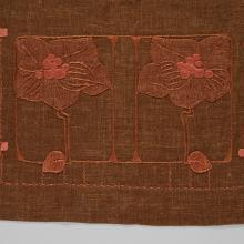 Magnolias table scarf  c. 1910