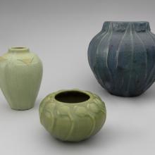 Vase with poppy motif  1905, Poppy pods vase  c. 1906, Vase  1906