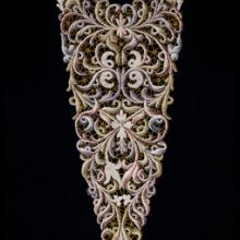 Dress front  late 1800s bobbin lace M. Jesurum & Co. Pellestrina, Italy |Collection of Lacis Museum of Lace and Textiles, Berkeley, CA| JAB12353 L2013.3501.003