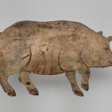 Pig weathervane  c. late 1800s–early 1900s
