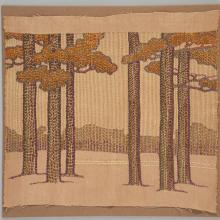 Tree embroidery textile  1903–10